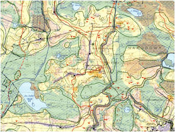 Fragment mapy hydrograficznej (przykład)