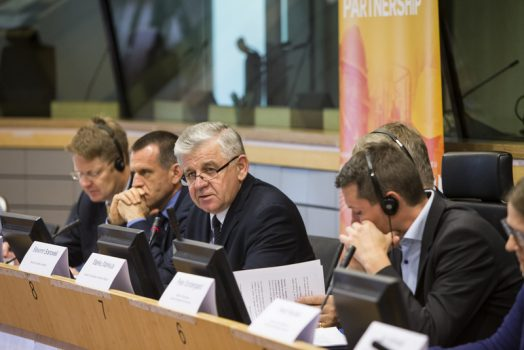 Wystąpienie Marszałka Sławomira Sosnowskiego podczas konferencji (fot. Kobus Lukasz; lukasz@kobusArt.eu +32 476.083.996 +48 606.824.608 www.facebook.com/KobusArt)