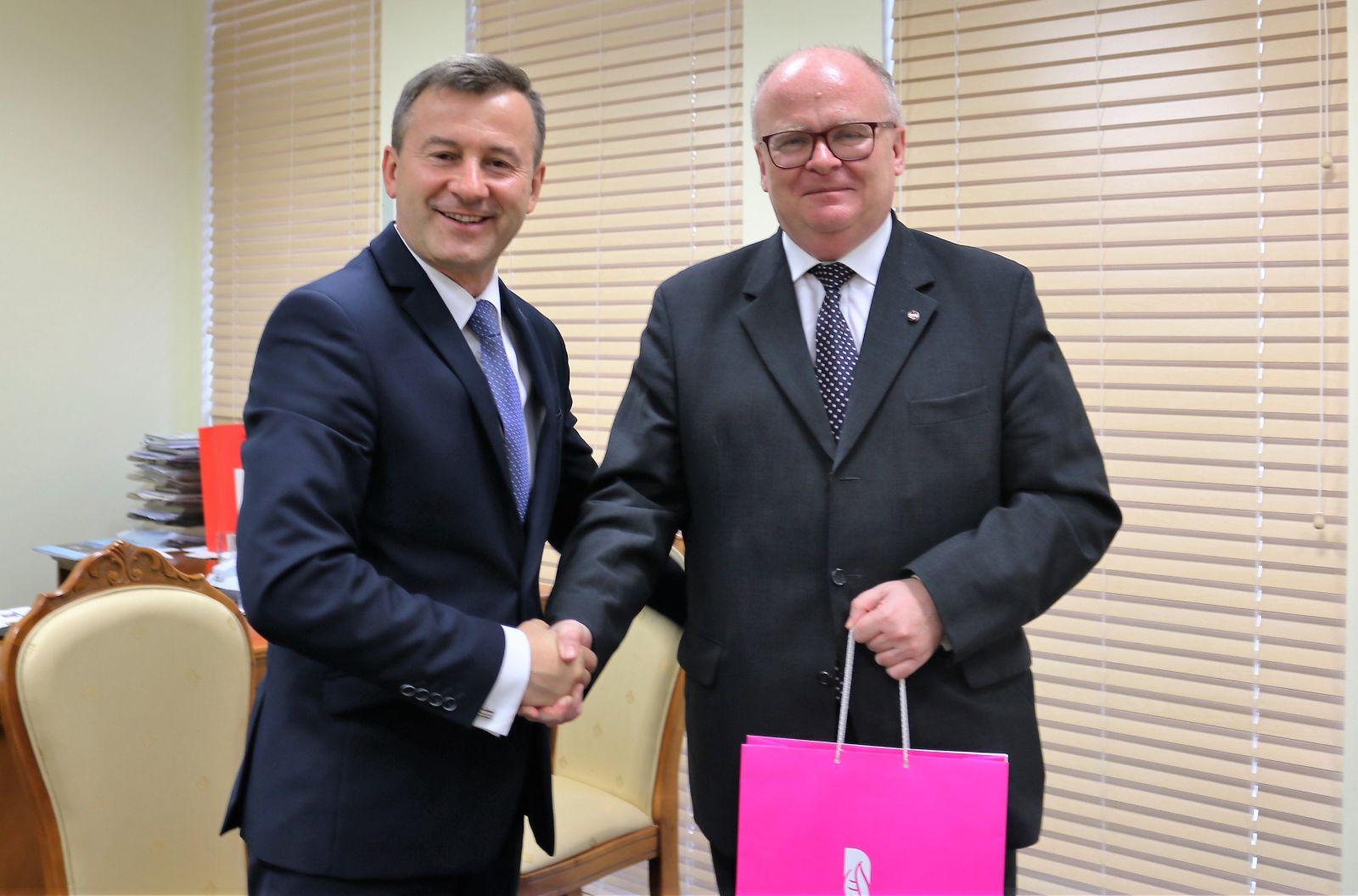 Spotkanie Wicemarszałka z Ambasadorem Republiki Austrii