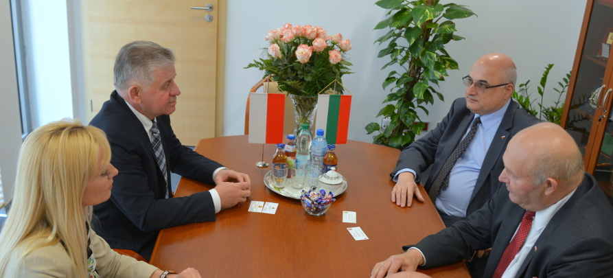 Spotkanie Marszałka Województwa Lubelskiego z Ambasadorem Bułgarii