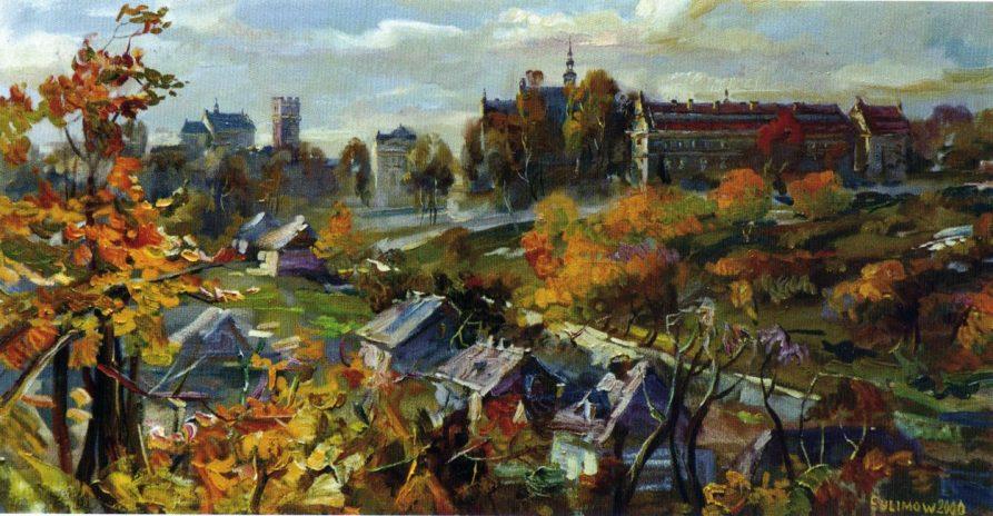 Panorama Lublina od strony rzeki Bystrzycy