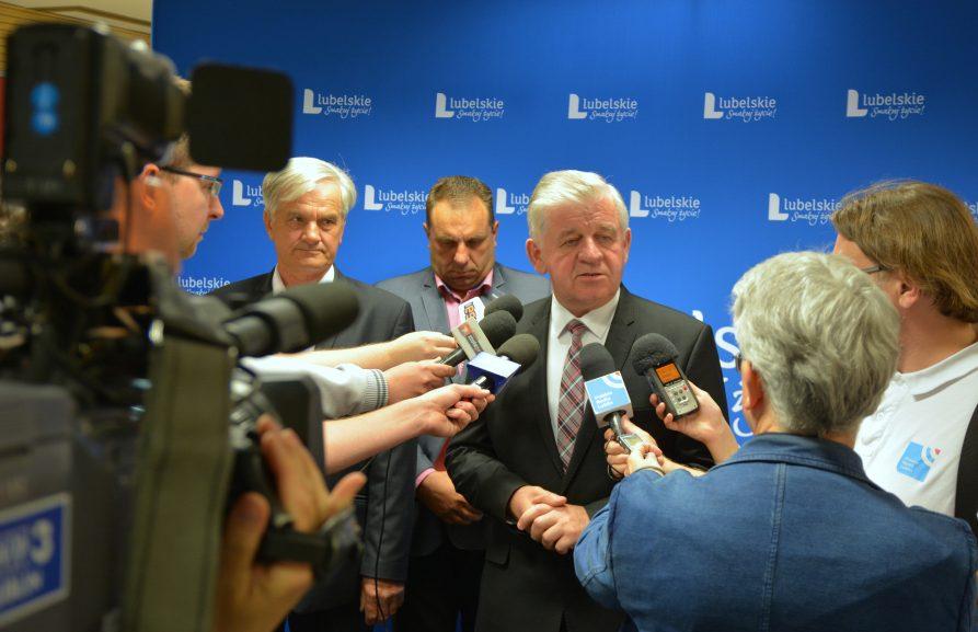 Konferencja prasowa z marszałkiem w sprawie ASF