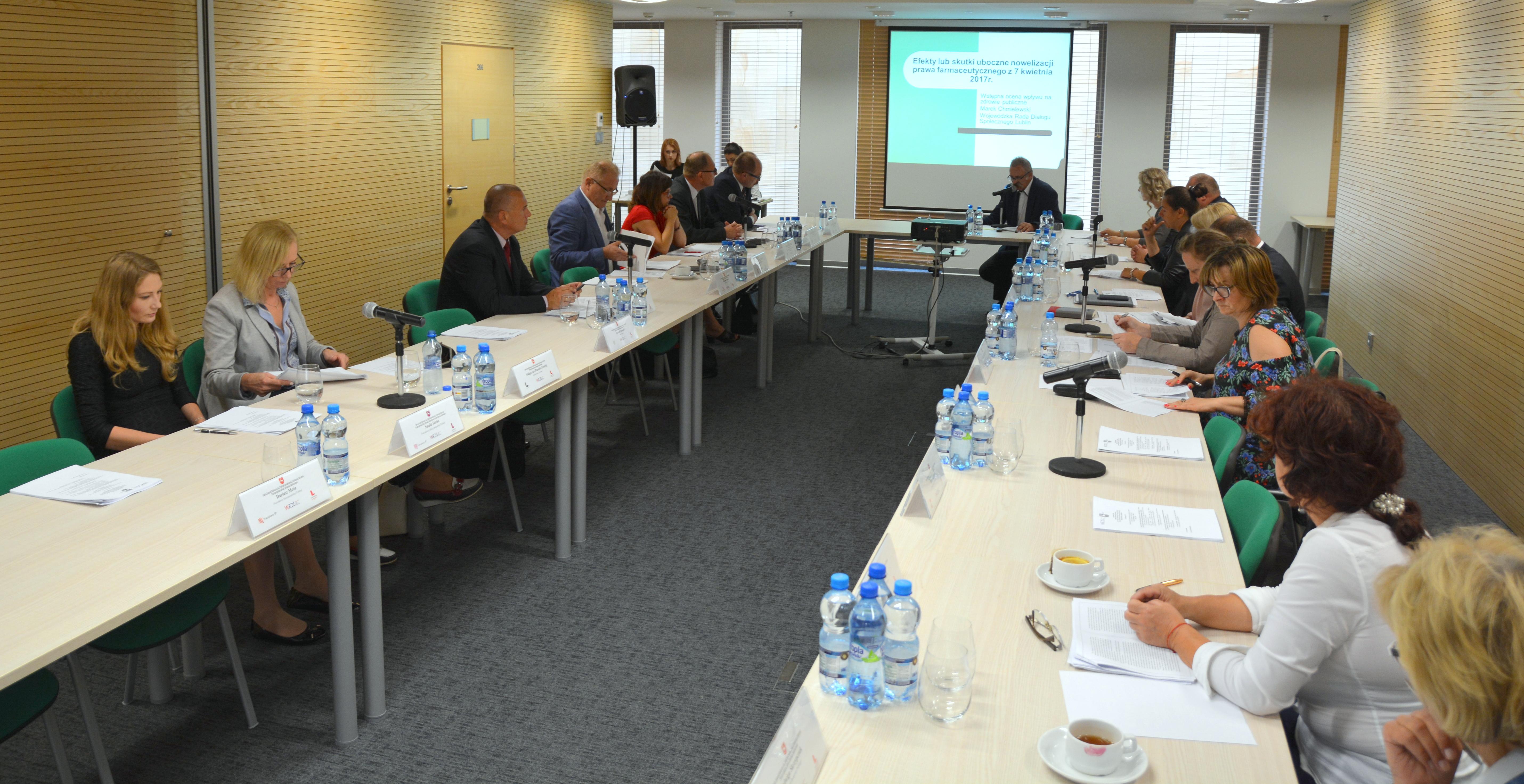 Posiedzenie Stałego Zespołu Roboczego ds. Polityki Społecznej i Ochrony Zdrowia Wojewódzkiej Rady Dialogu Społecznego Województwa Lubelskiego