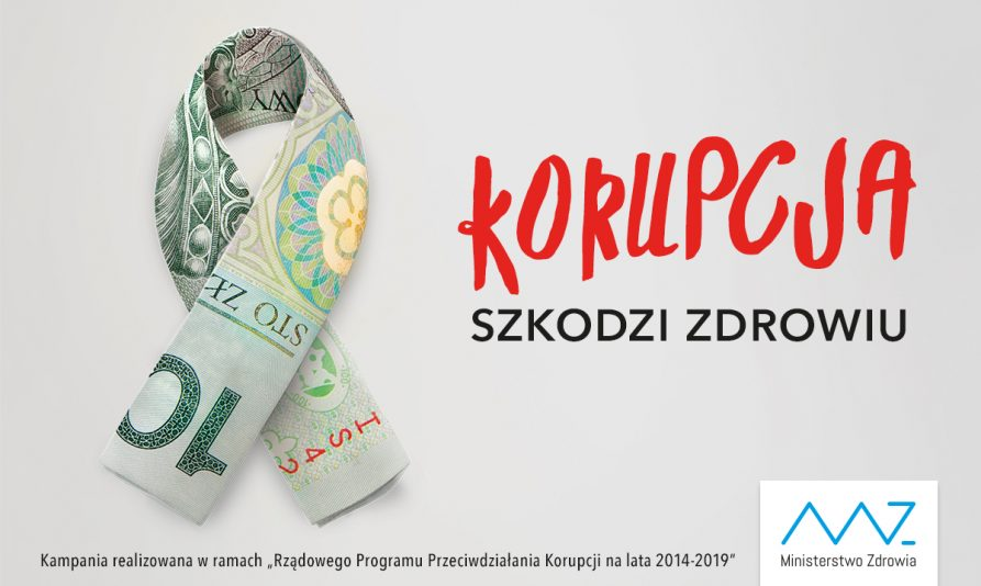 Koprupcja szkodzi zdrowiu plakat promocyjny