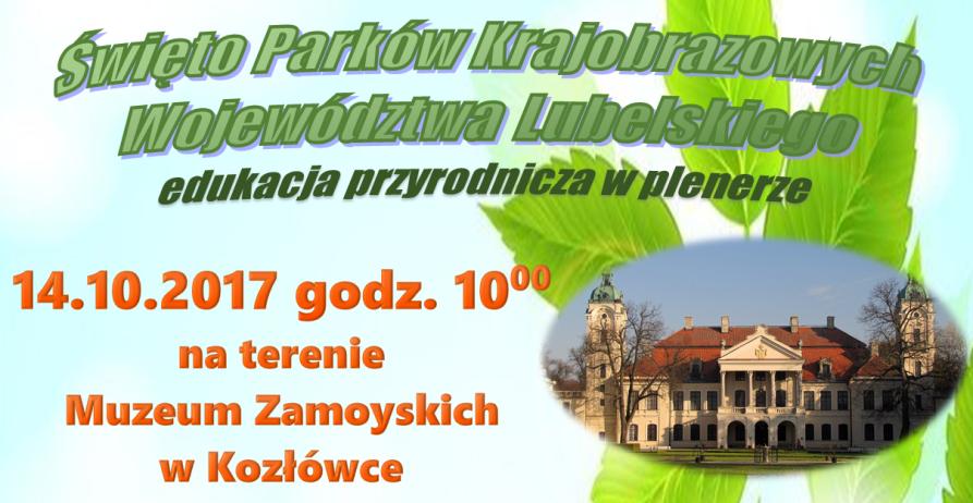 Zapraszamy na święto parków krajobrazowych w Kozłówce!