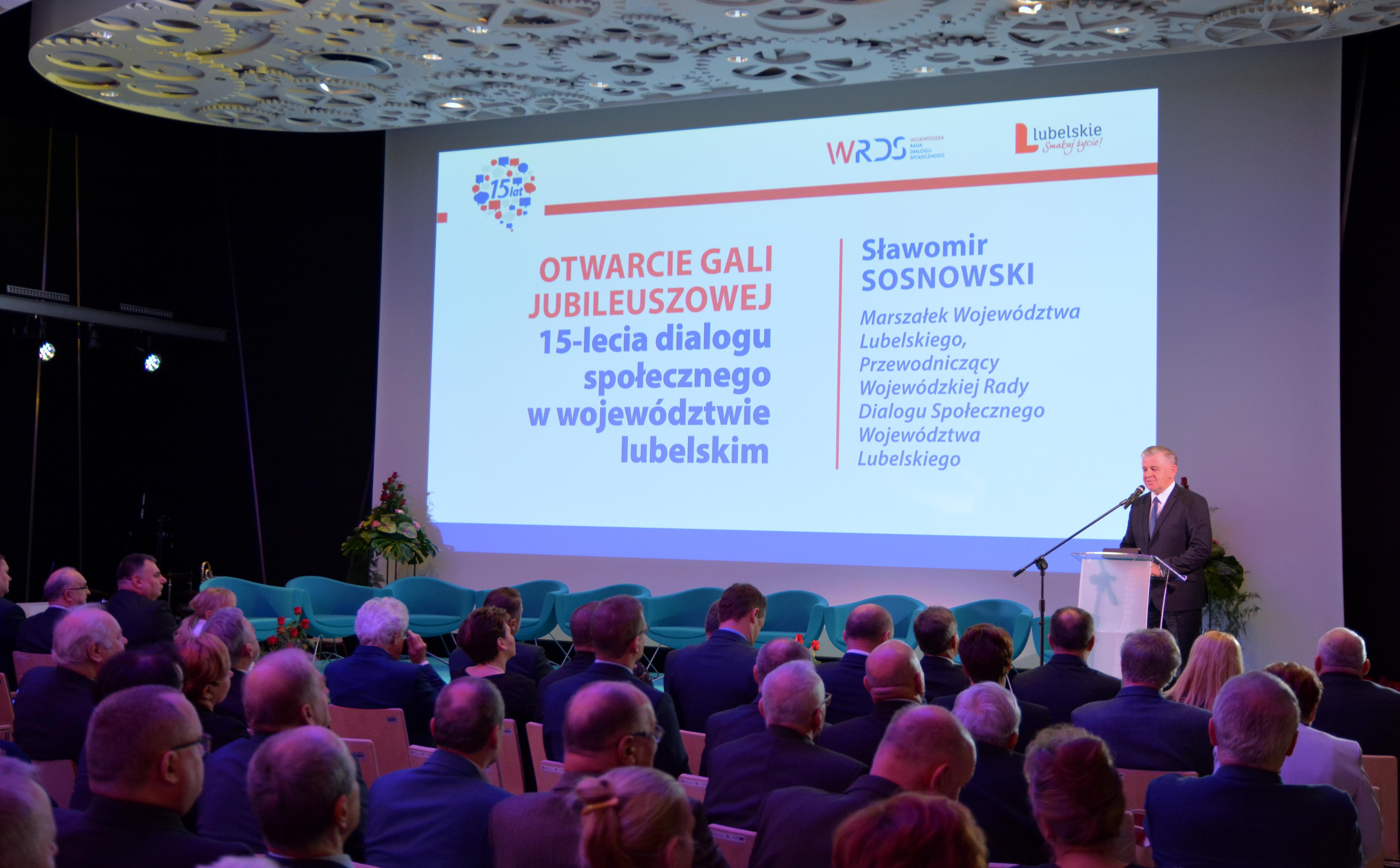 Gala Jubileuszowa 15-lecia dialogu społecznego w województwie lubelskim