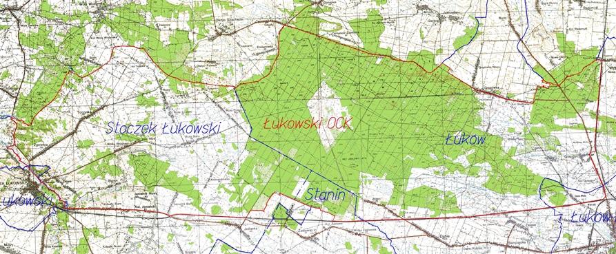 Zmiany w Łukowskim Obszarze Chronionego Krajobrazu