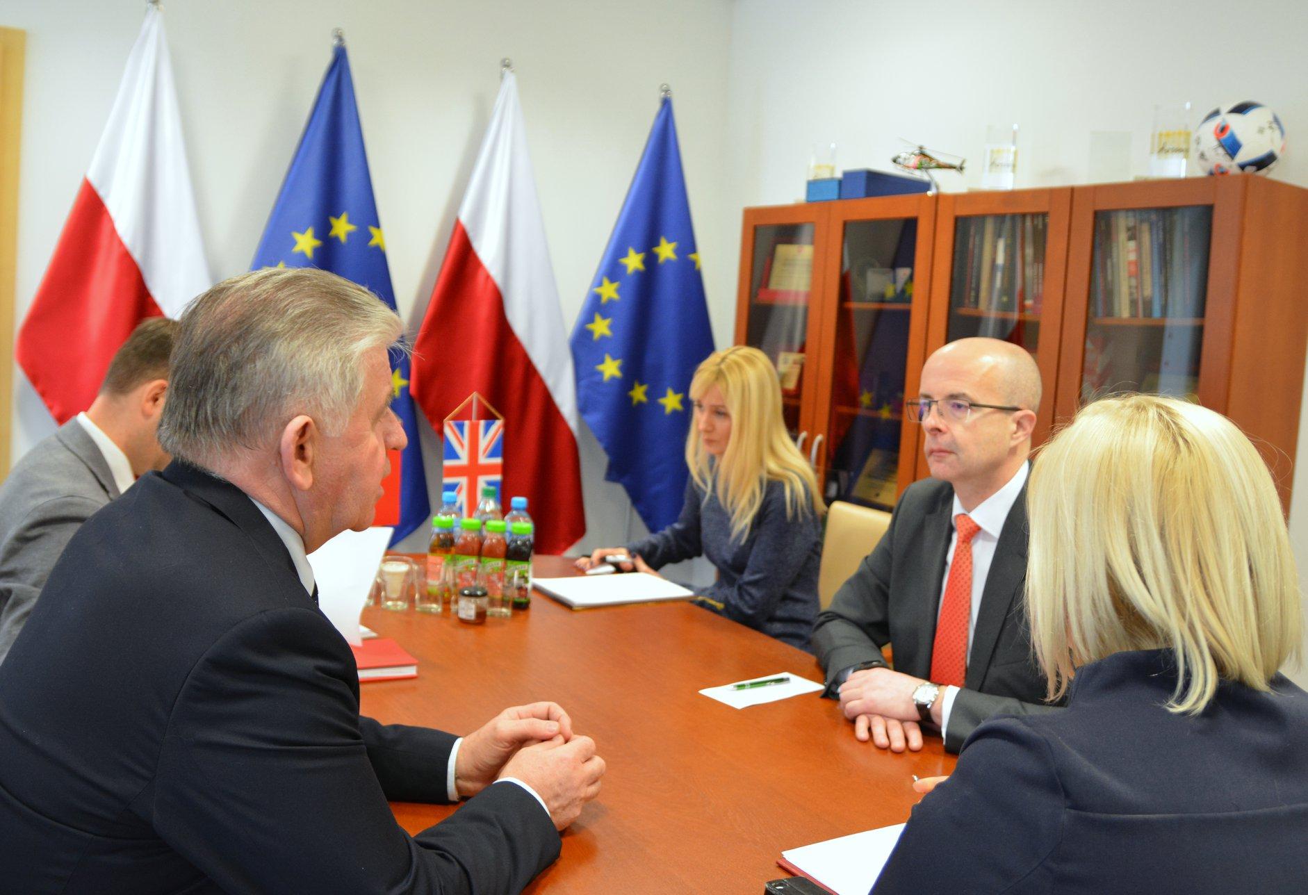 Wizyta ambasadora Wielkiej Brytanii w województwie lubelskim