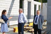 Wizyta marszałka Sławomira Sosnowskiego na budowie w Zespole Szkół Ponadgimnazjalnych w Radzyniu Podlaskim