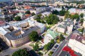 Lublin Plac litweski - miasto, architektura, zabytki z drona(fot. rpo.lubelskie.pl/M. Tarkowski)