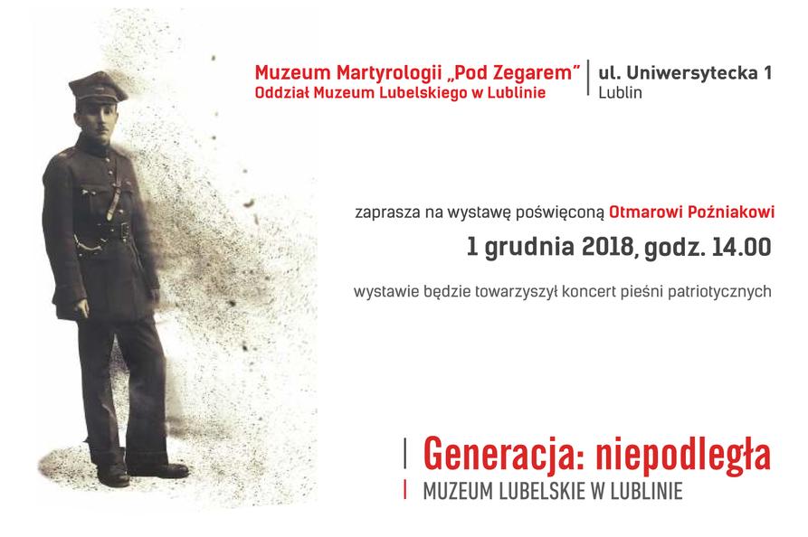 Zaproszenie na wystawę w ramach cyklu Generacja: niepodległa