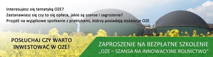 OZE – szansą na innowacyjne rolnictwo