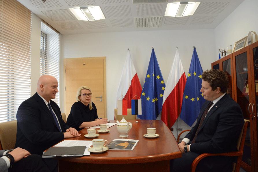 Ambasador Estonii z wizytą u Marszałka Województwa Lubelskiego
