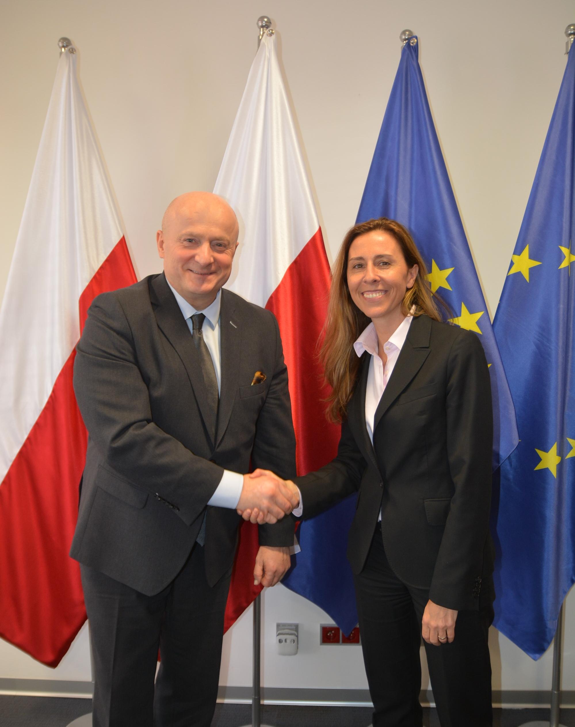 Spotkanie Marszałka z Ambasador Słowenii