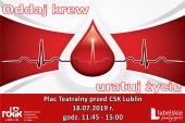 Oddaj krew - plakat