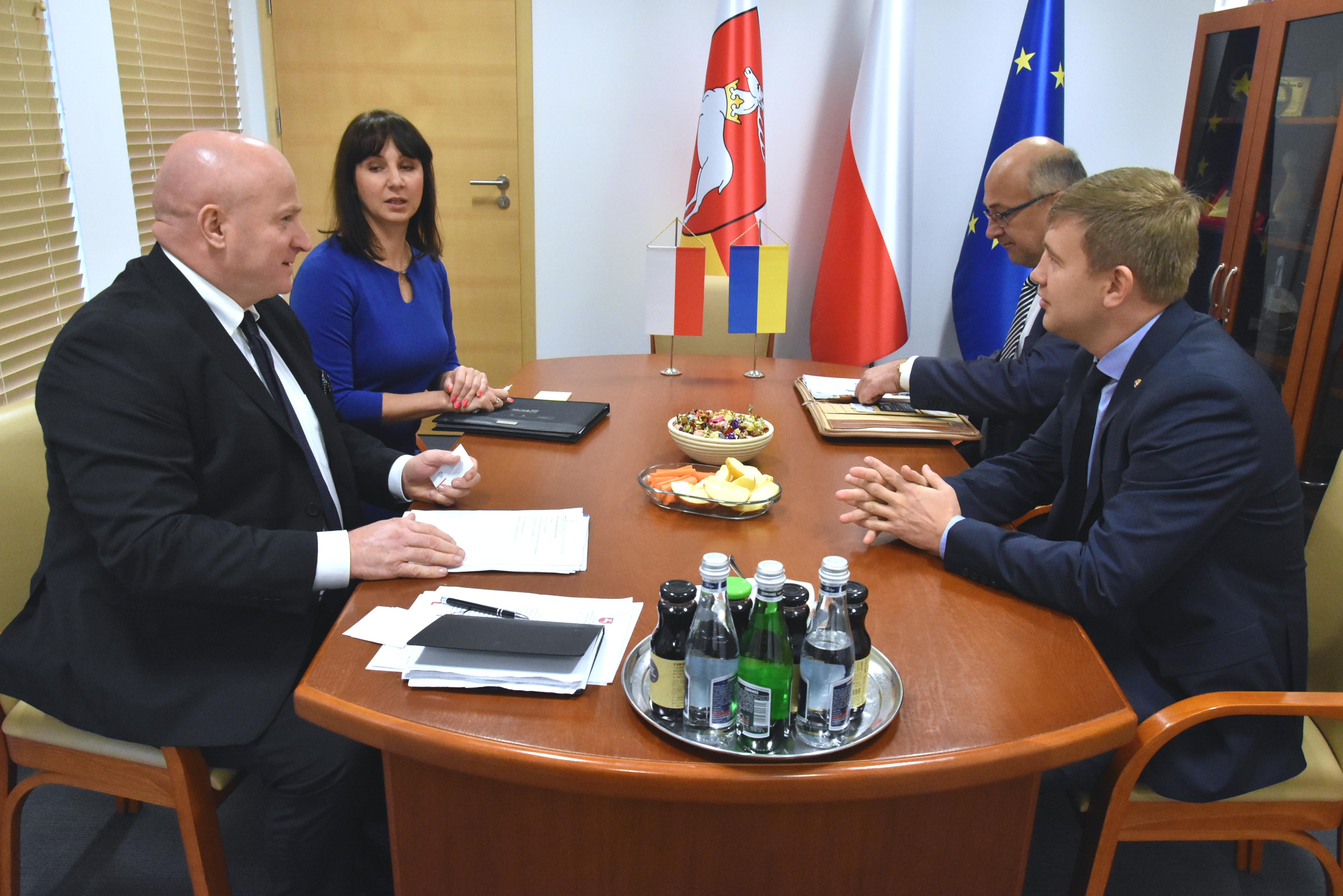 Spotkanie Marszałka Stawiarskiego z Przewodniczącym Rówieńskiej Obwodowej Administracji Państwowej