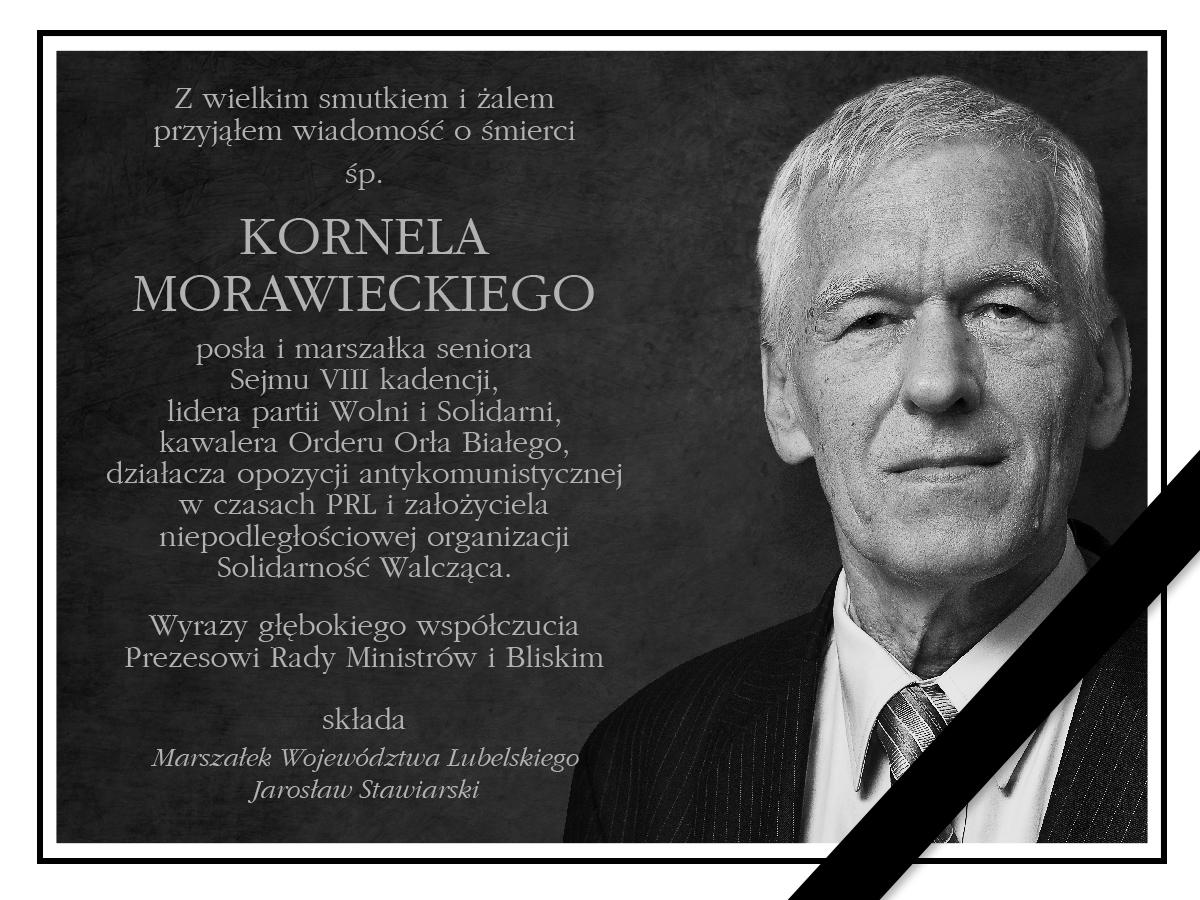 Zmarł Marszałek Senior Sejmu Kornel Morawiecki