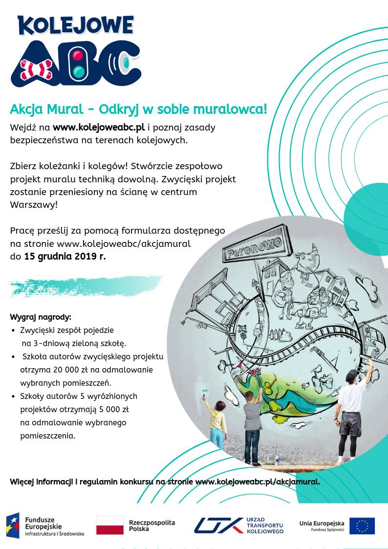 """Akcja Mural – nowy konkurs w ramach """"Kampanii Kolejowe ABC"""""""