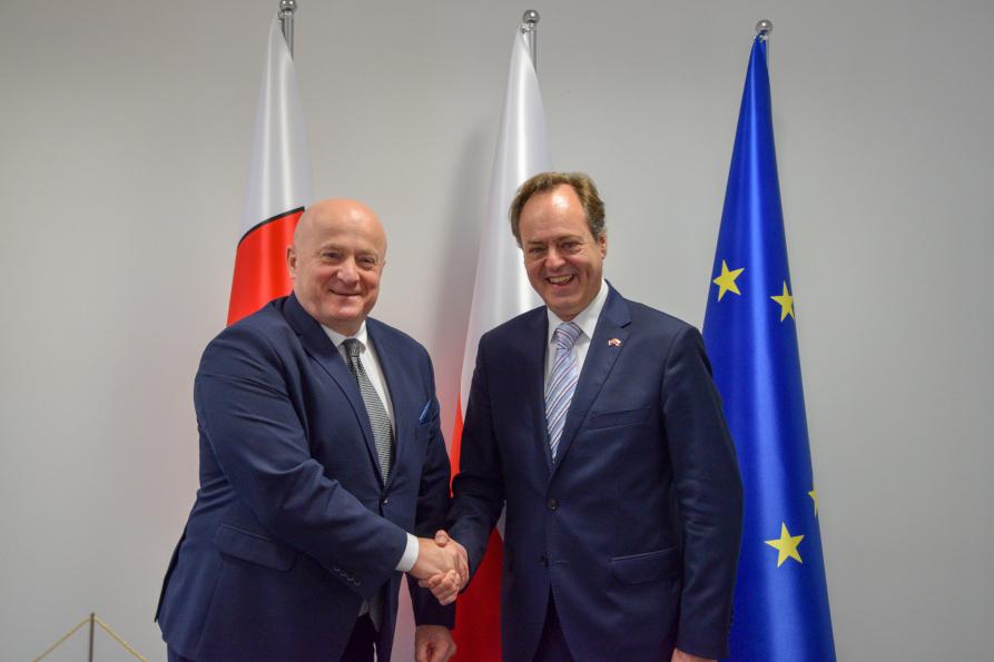 Spotkanie Marszałka Stawiarskiego z Ambasadorem Chorwacji