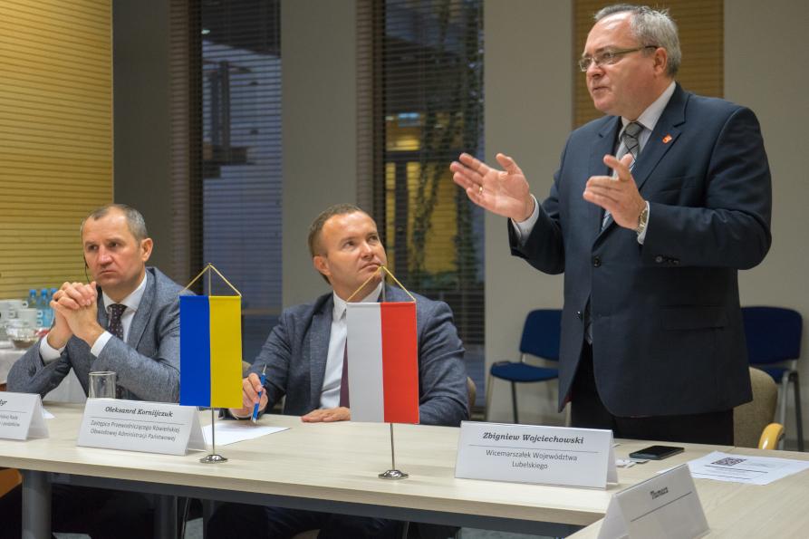Delegacja z Obwodu Rówieńskiego w Województwie Lubelskim
