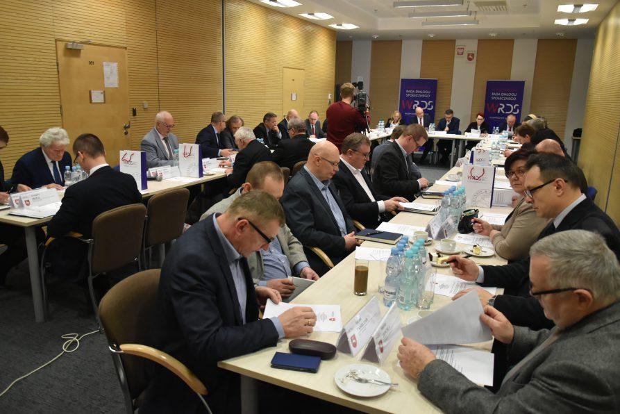 Posiedzenie plenarne Wojewódzkiej Rady Dialogu Społecznego WL