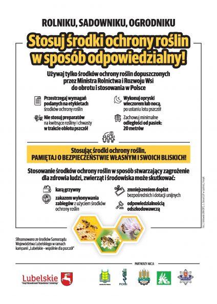 Ulotka akcji chroń pszczoły bez nich nie ma życia na ziemi - strona druga