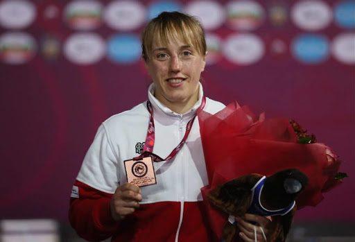 Katarzyna Krawczyk z medalem ME Kaspijsk, Rosja 2018