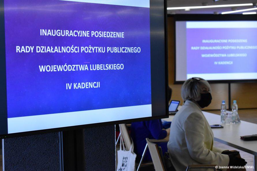 Inauguracyjne posiedzenie Rady Działalności Pożytku Publicznego Województwa Lubelskiego IV kadencji.