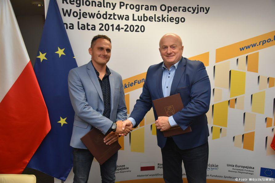"""Podpisanie umowy w projekcie """"System gospodarowania odpadami azbestowymi na terenie województwa lubelskiego"""""""