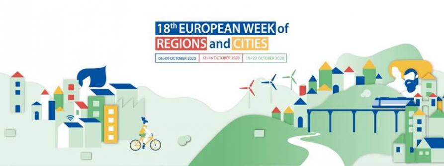 Plakat warsztatów SMART RAIL FOR THE EU'S GREEN RECOVERY