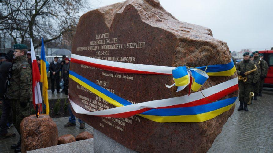 Pomnik Wielkiego Głodu w Ukrainie, fot. Konsulat Generalny Ukrainy w Lublinie