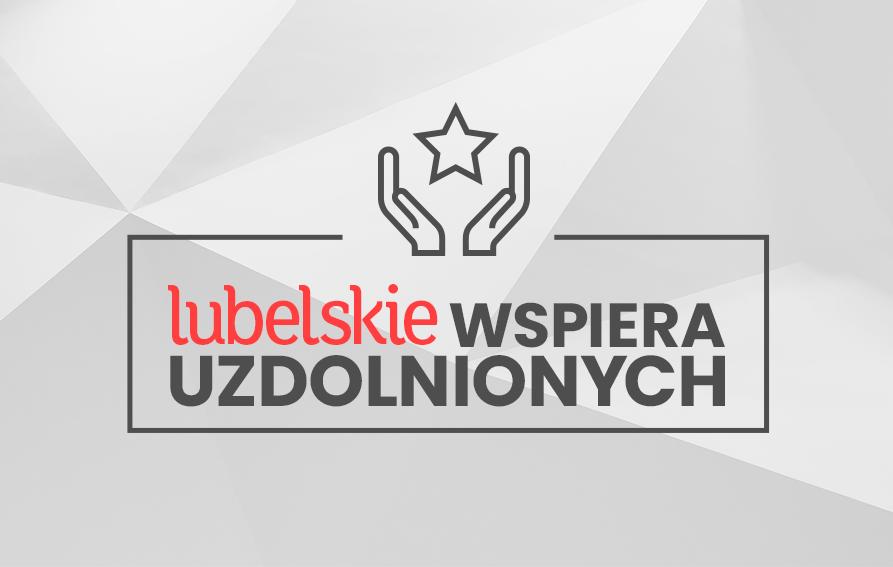 Grafika-logo lubelskie wspiera uzdolnionych