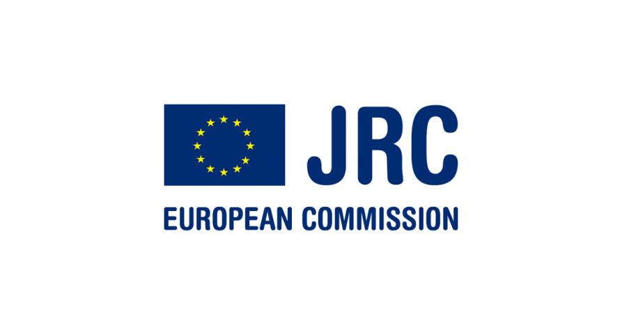 Logo JRC Eujropean Commission z flagą Unii Europejskiej