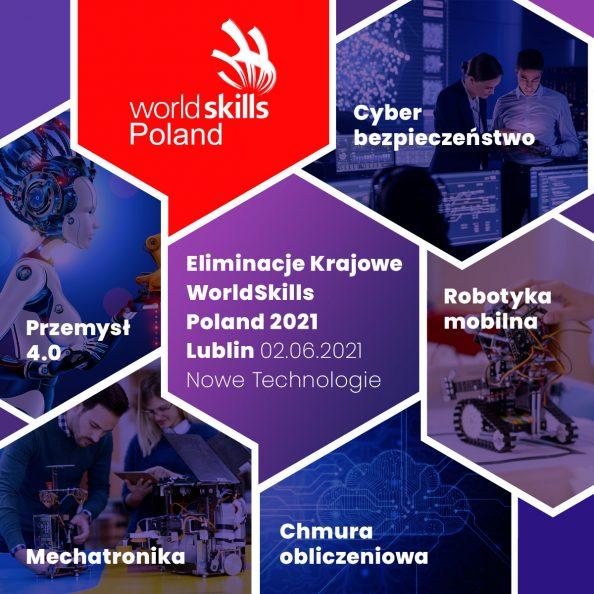 Grafika promująca Eliminacje Krajowe WordSkills Poland 2021 Lublin