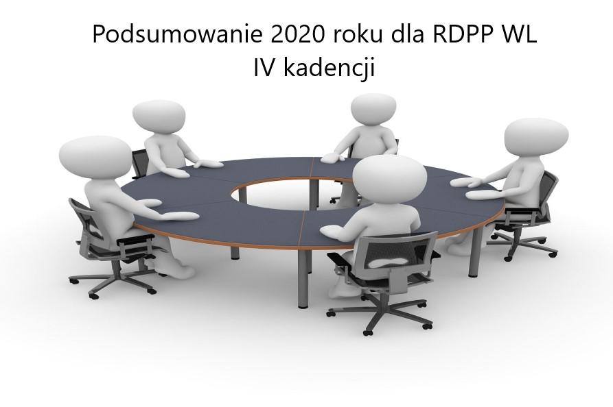 Obrazek z białym tłem na środku stół z dookoła siedzącymi postaciami