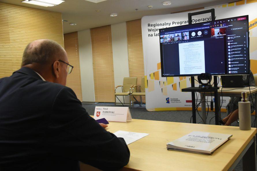 Paweł Dąbrowski - strona samorządowa WRDS WL podczas posiedzenia plenarnego WRDS WL w dniu 11 czerwca 2021 r.