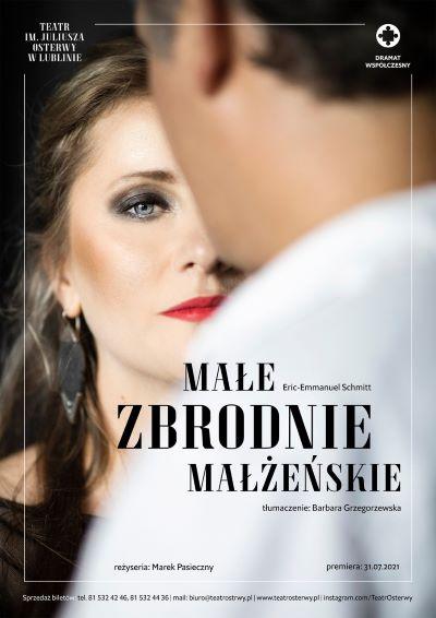 plakat spektaklu Małe zbrodnie małżeńskie