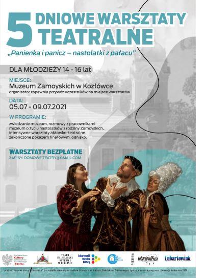 plakat Pięciodniowe warsztaty teatralne