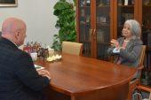 Spotkanie Marszałka Jarosława Stawiarskiego z Ambasador Argentyny