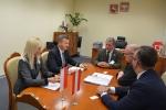 Spotkanie z ambasadorem odbyło się w gabinecie wicemarszałka
