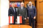 Wicemarszałek, Ambasador Austrii oraz pracownik Ambasady