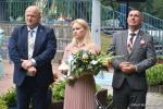 Marszałek Jarosław Stawiarski, Dyrektor Departamentu Wdrażania EFRR Anna Brzyska i poseł Kazimierz Choma.