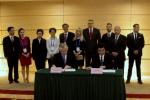 Podpisanie umowy z Prowincją Henan (na zdj. Wicegubernator Prowincji Henan Pan Hu Jinping)