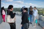 Spotkanie partnerów z projektu CIVEEL 19.04.2018 - widok z wieży Zamku Lubelskiego