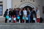 Spotkanie partnerów z projektu CIVEEL 19.04.2018 - zdjęcie grupowe przed Zamkiem Lubelskim