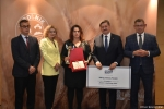 Gala finałowa konkursu Rolnik z Lubelskiego 2020. Wręczenie nagrody za trzecie miejsce w kategorii produkcja zwierzęca.