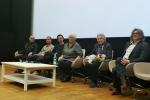 Michał Hochman oraz autorzy i producenci filmu przed pierwszym seansem w Lublinie. Fot. Krzysztof Basiński