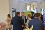 Wicemarszałek Grzegorz Kapusta rozmawia z przedsiębiorcami