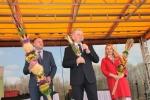 Otwarcie drugiego dnia Festiwalu: (od lewej) wicemarszałek Grzegorz Kapusta, marszałek Sławomir Sosnowski i sekretarz Anna Augustyniak (fot. Tomasz Makowski/UMWL)