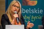 Sekretarz Województwa Lubelskiego Anna Augustyniak podczas wystąpienia w panelu dyskusyjnym